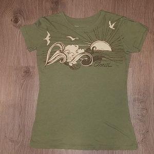 O'Neill XS Soft Green Short Sleeve Shirt Top